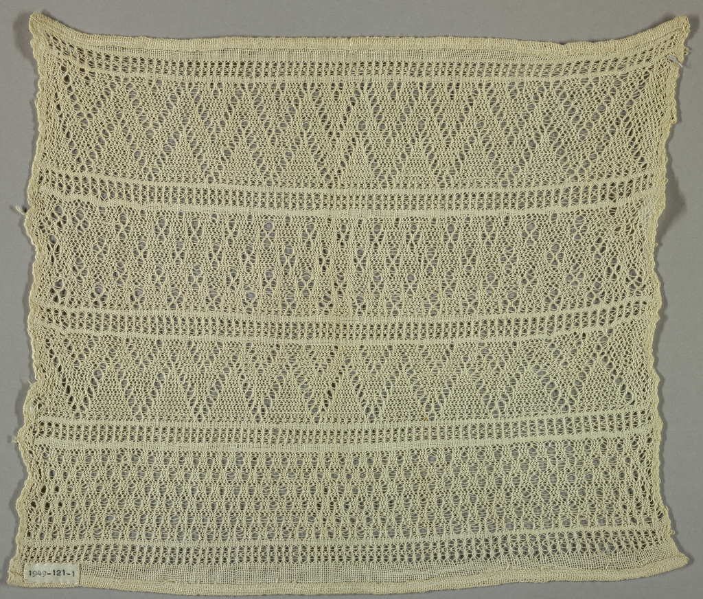 Sampler with a variety of gauze weaves in white cotton