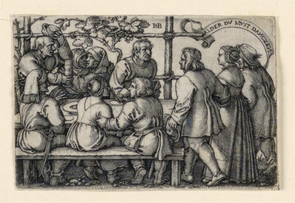 Print, The Peasants' Feast (Alder du must danczen)