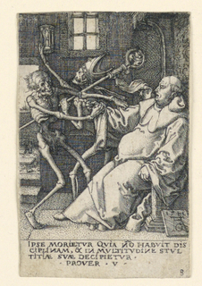Print, Death and the Abbot, plate 8 from The Power of Death or The Allegory of Original Sin and Death
