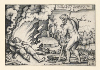 Print, The Death of Hercules, 1542–48