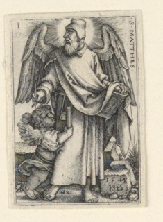 Print, St. Matthew, from The Four Evangelists, 1541