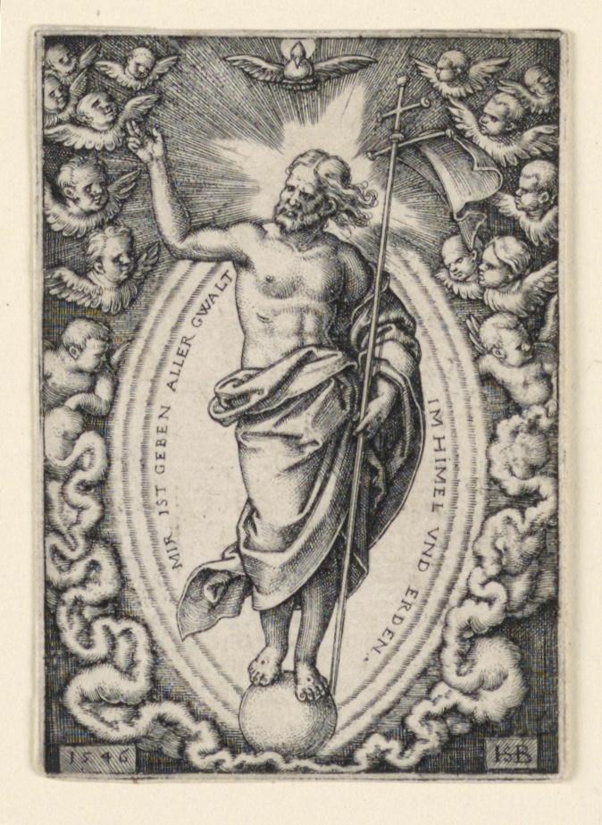 Print, Christ on the Globe