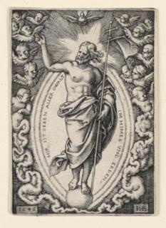 Print, Christ on the Globe, 1546