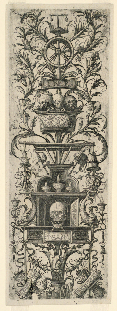 Print, Ornamented Fillet with Chimney-piece, 16th century