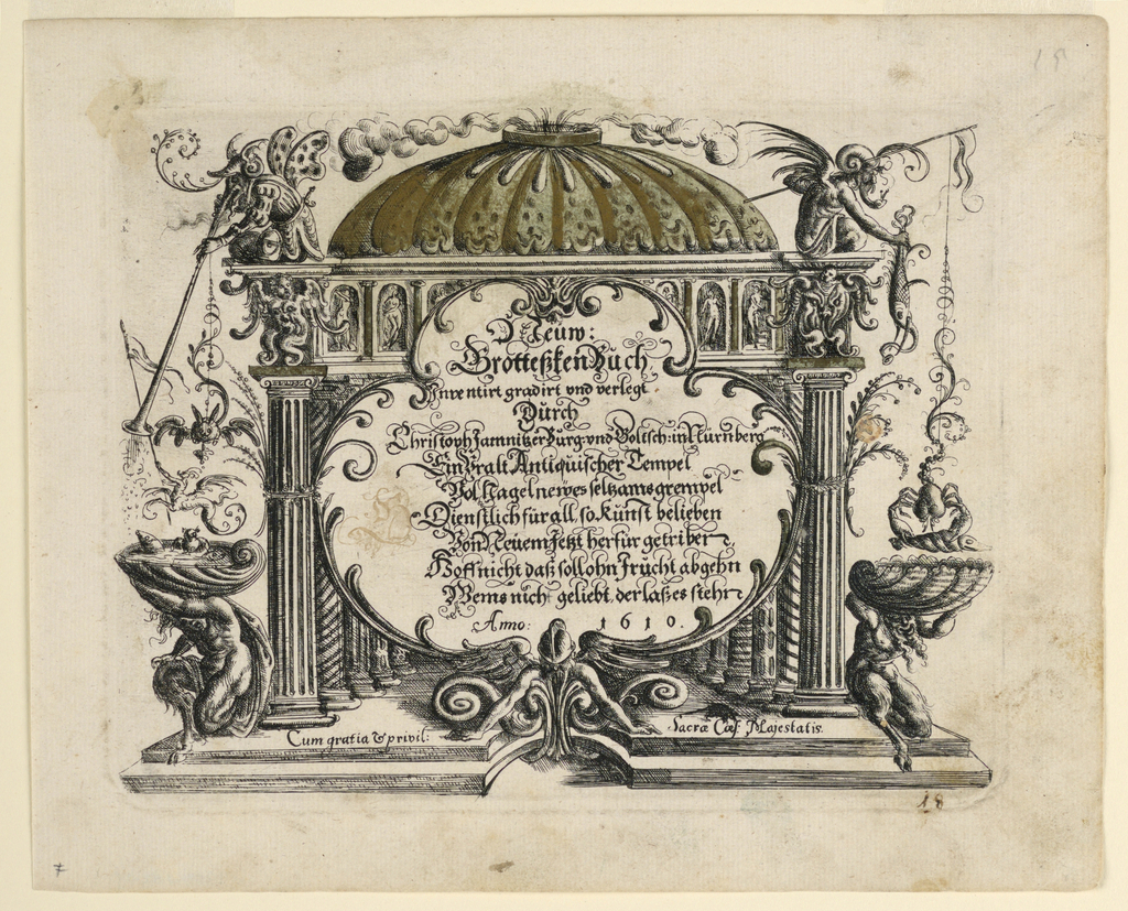 Print, Title page, from Neüw Grotteßken Buch (New Grotesque Book)