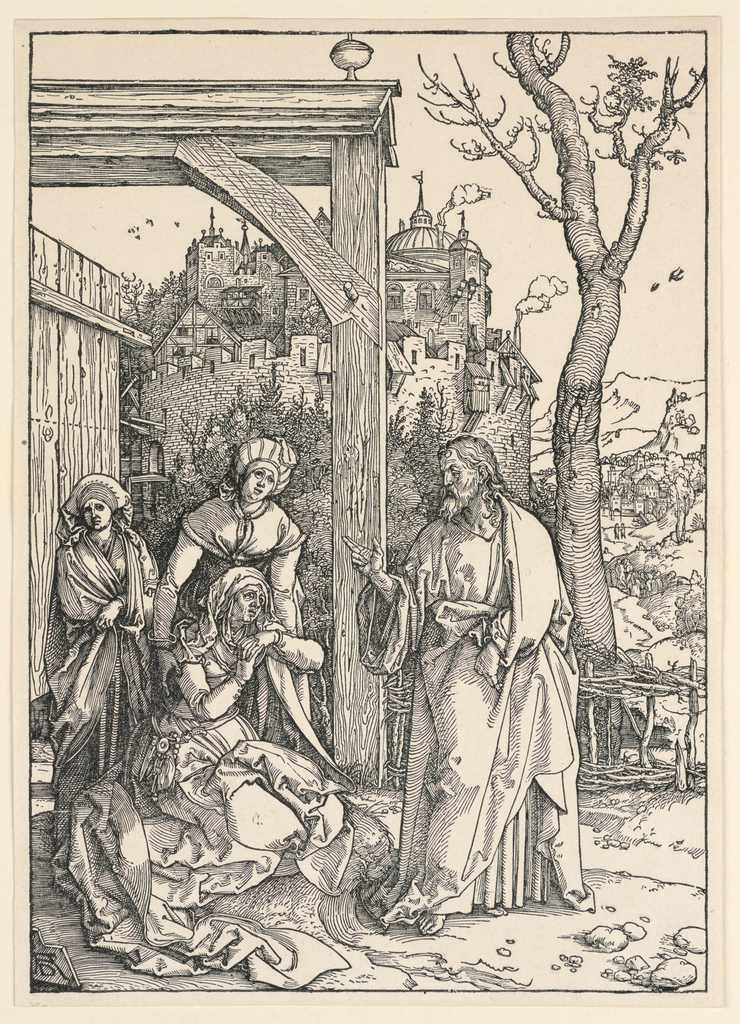 Print, Christ Taking Leave of his Mother, from the Life of the Virgin series