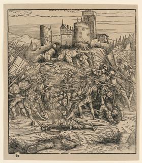 """Print, The Battle at Nauders, from """"Der Weisskunig"""""""