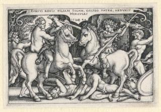 Print, Hercules Abducting Iole, 1542–48