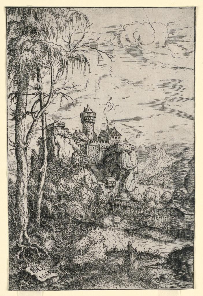 Print, Landscape with Castle and Bridge, 1553