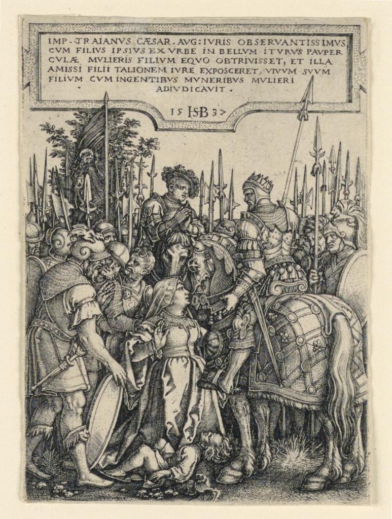 Print, The Justice of Trajan