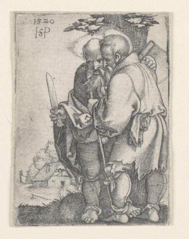 Print, Saint Bartholomew and Saint Matthias