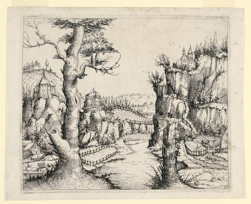Print, Landscape with River and Trees, 1546