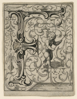 """Print, Panel with the Letter """"F"""" from the """"Newes ABC Büechlein"""""""
