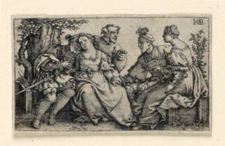 Print, Two Couples and the Buffoon, 1535