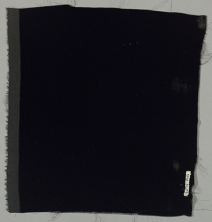 "Sample of solid black cut ""transparent"" velvet."
