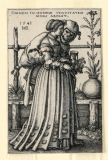Print, The Lady and Death, 1541