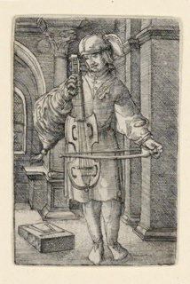 Print, The Violin Player, ca. 1519–1525