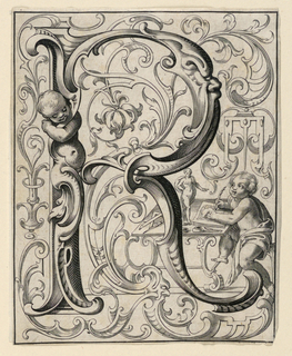 """Print, Panel with the Letter """"R"""" from the """"Newes ABC Büechlein"""""""