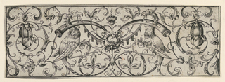 Print, Grotesque Frieze with Birds