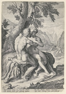 Print, Hercules and Dejanira, from a series of the Loves of the Gods, ca. 1597