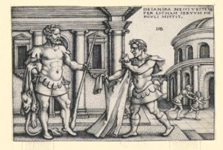 Print, Lichas Bringing the Robe of Nessus to Hercules, 1542–48