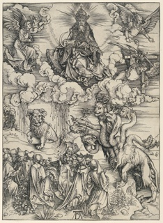 Print, The Beast with Two Horns like a Lamb, from The Apocalypse