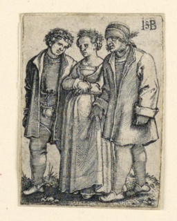 Print, The Wedding Procession: The Bride and Groom, ca. 1545