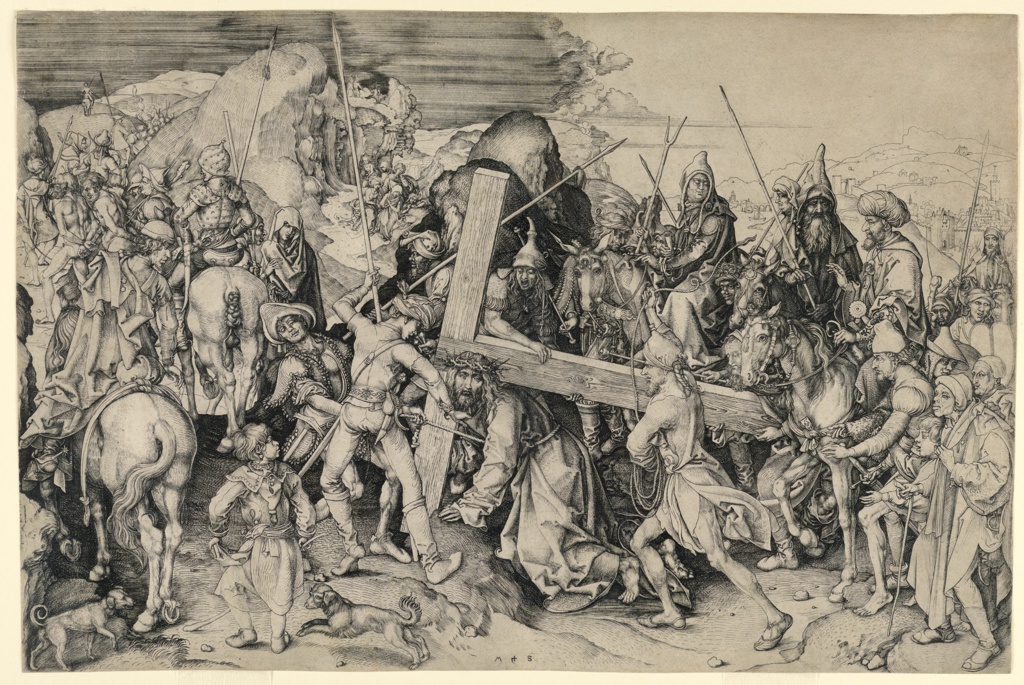 Print, Christ Carrying the Cross: The Large Plate