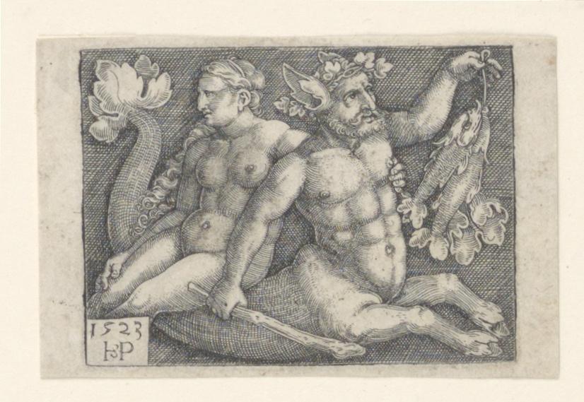 Print, A Triton and a Nymph