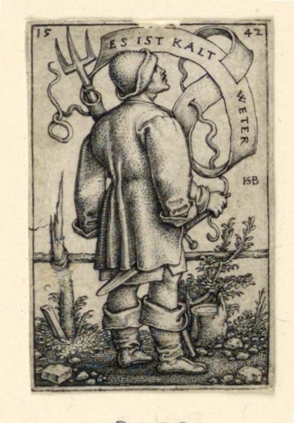 """Print, The Weather Peasant: """"Es ist kalt Weter"""""""