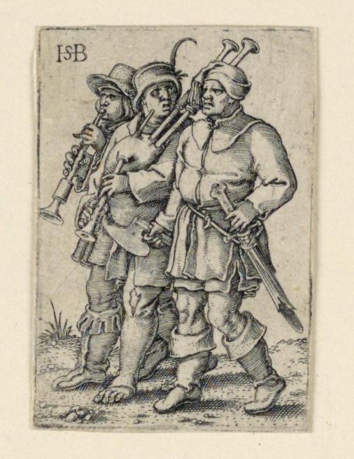 Print, The Wedding Procession: Three Musicians