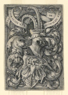 Print, Coat of Arms with an Eagle, 1543