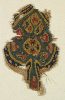 Fragment Mounted Onto A Support Fabric (Egypt)