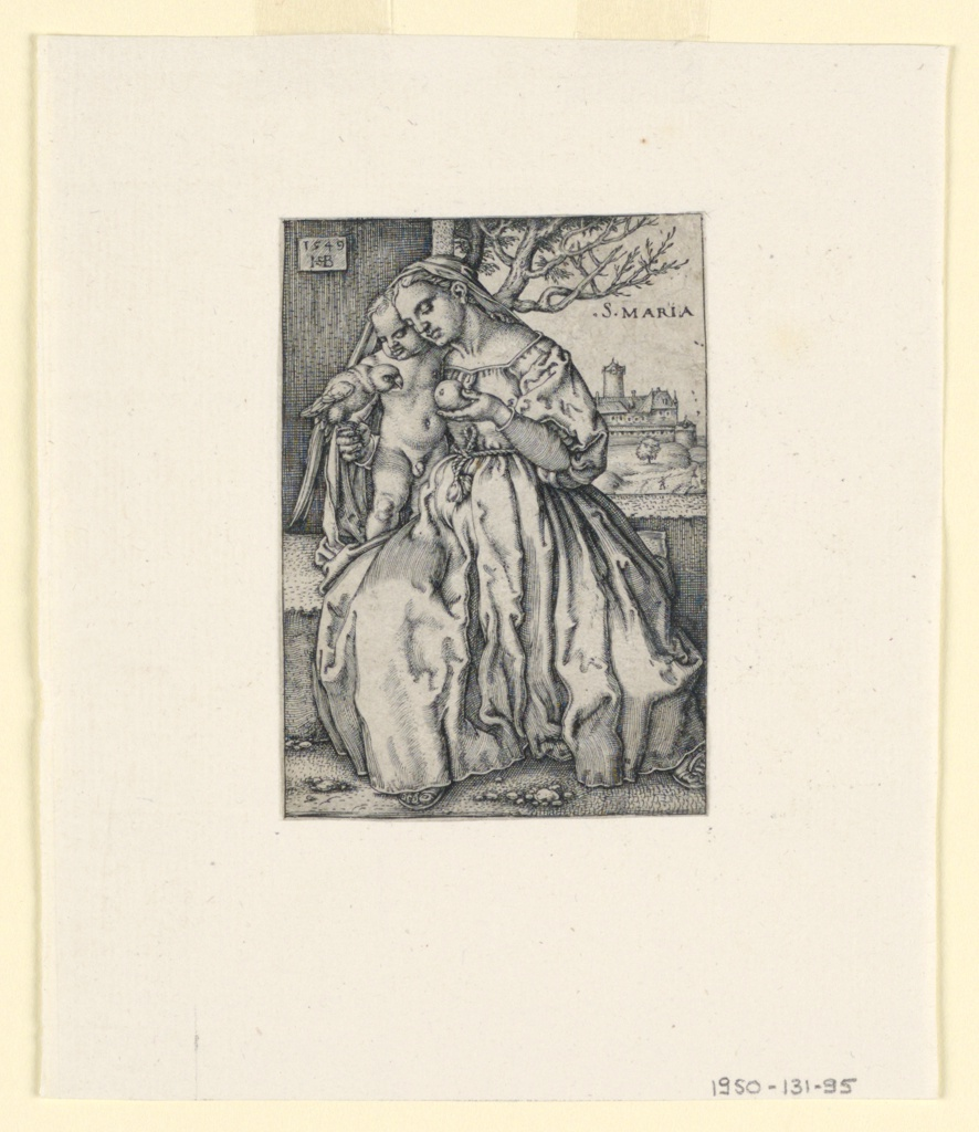 Print, Virgin and Child with Parrot, 1549