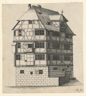 Print, Albrecht Durer's House, ca. 1660