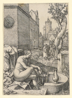 Print, Susanna and the Elders, 1555