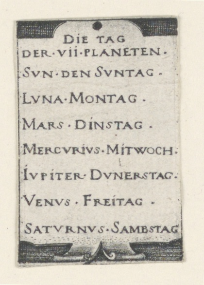 Print, Title Page, The Seven Planets