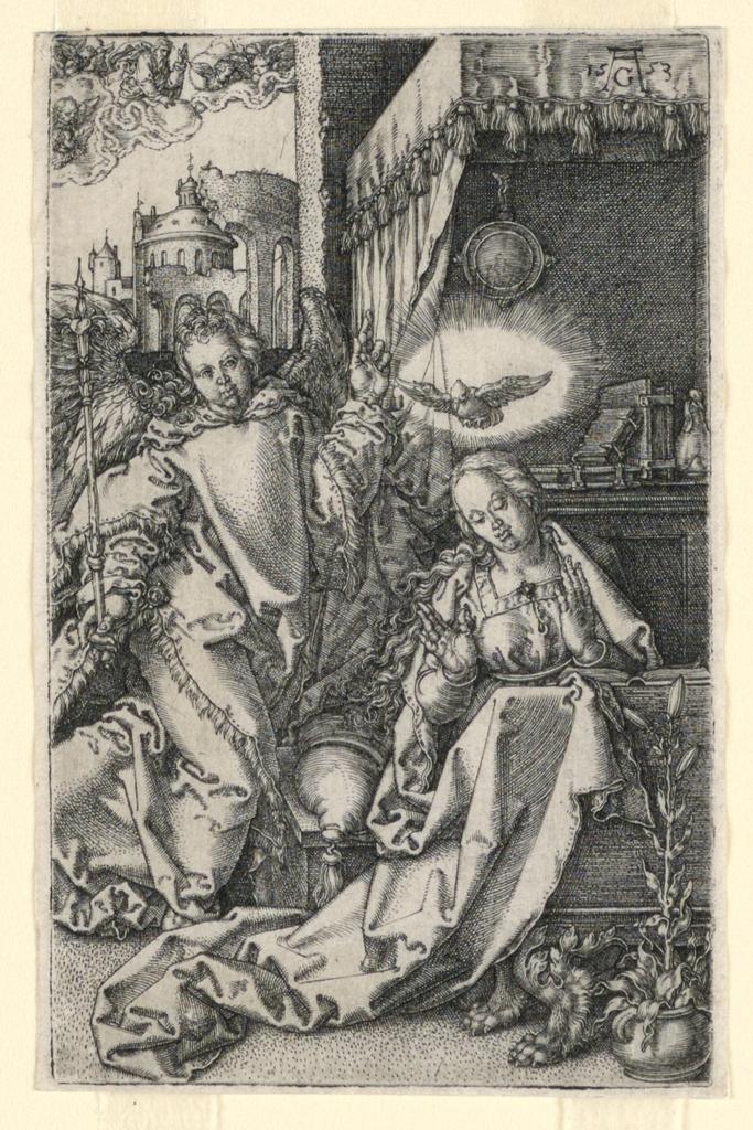 Print, The Annunciation, 1553