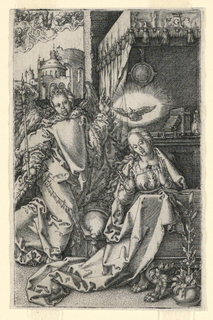 Print, The Annunciation, 1553