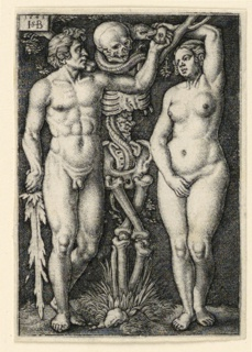 Print, Adam and Eve, 1543