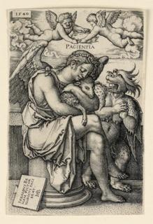 Print, Pacientia (Patience), 1540