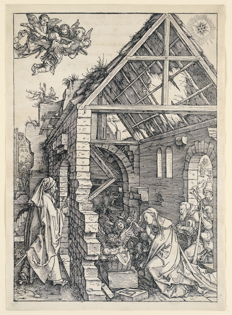 Print, The Nativity, from the Life of the Virgin series