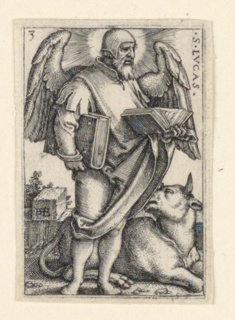 Print, St. Luke, from The Four Evangelists, 1541