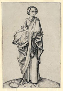 Print, The Fourth Foolish Virgin, ca. 1490