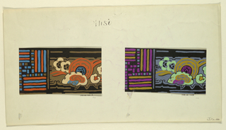 Drawing, Abstract floral and bar d, 1919