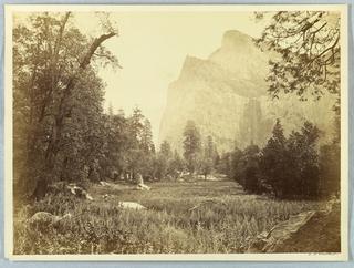 Photograph, Pohono, Bridal Veil, Yosemite, 1861–66