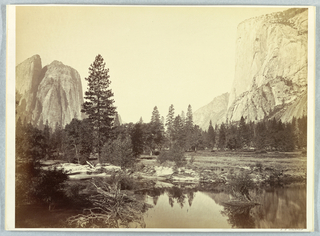 Photograph, Down the Valley, El Capitan and Cathedral Rocks, 1861–66
