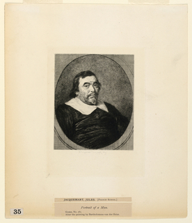 """Print, Portrait of a Man, from """"Etchings of Pictures in the Metropolitan Museum, New York"""""""