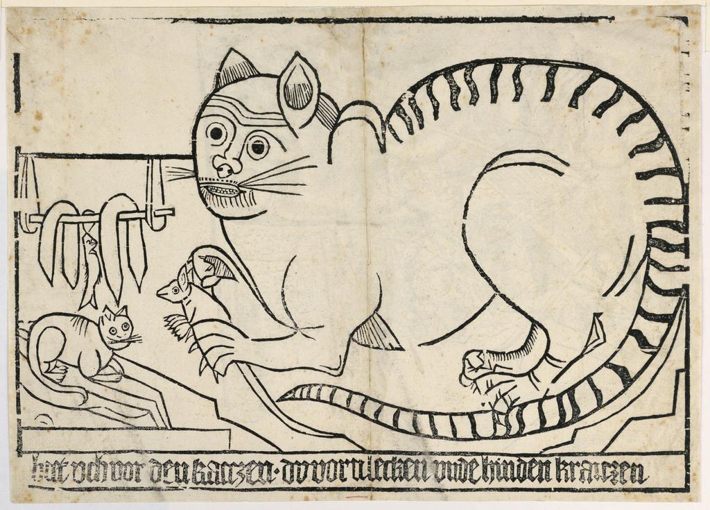 Print, Beware of the Cat, ca. 1500