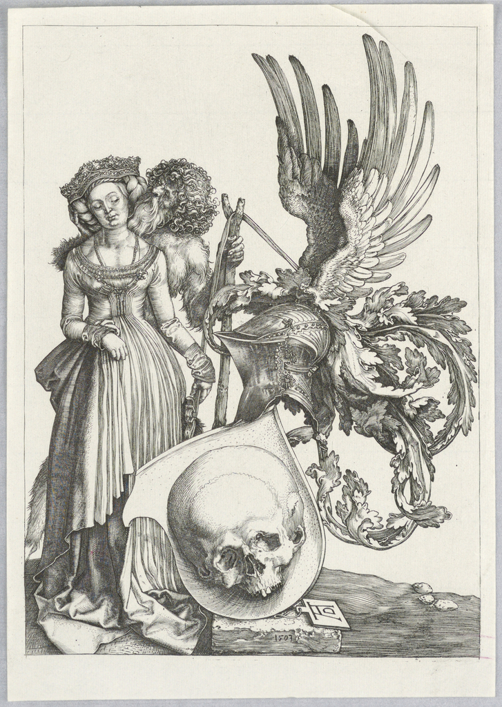 Print, Coat of Arms with a Skull, 1503